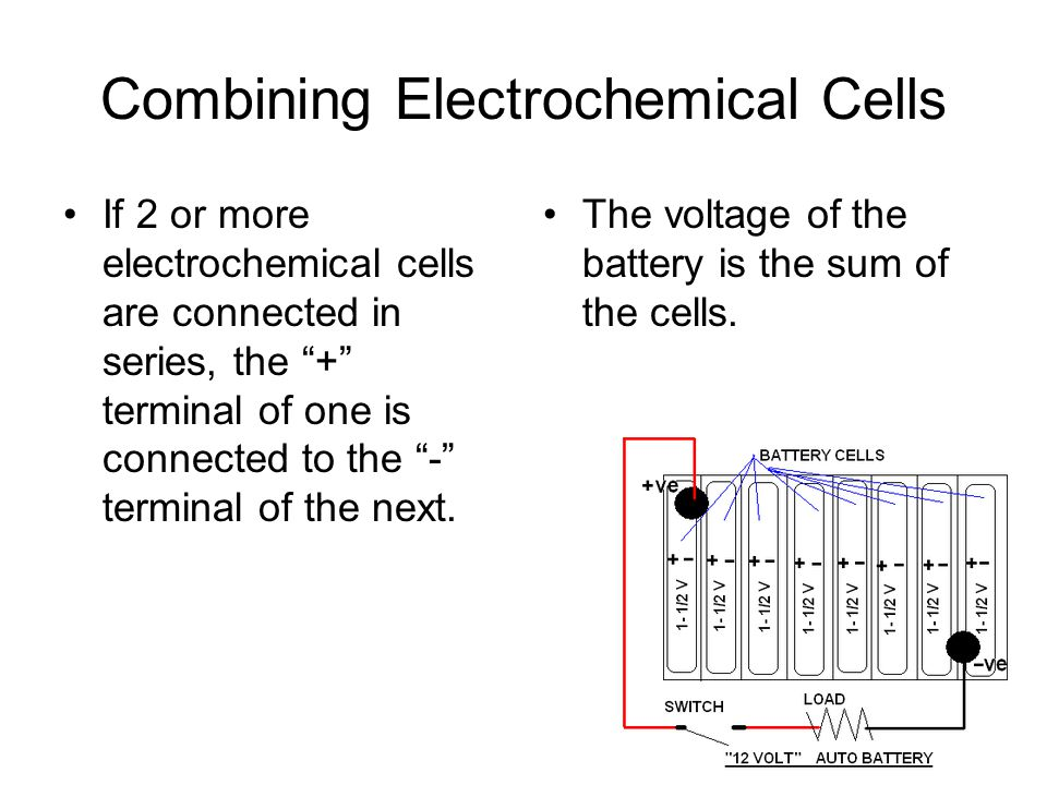 Combining Electrochemical Cells