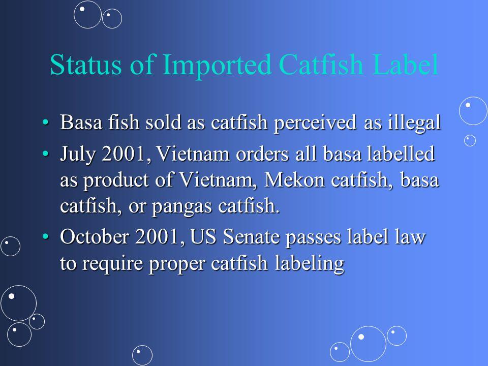 Status of Imported Catfish Label