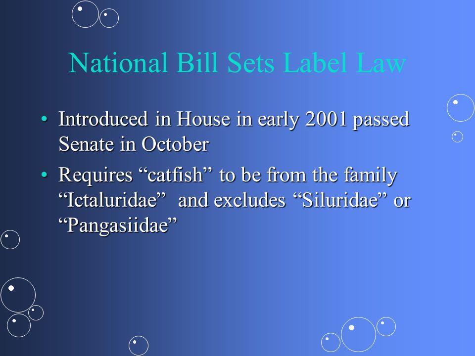 National Bill Sets Label Law