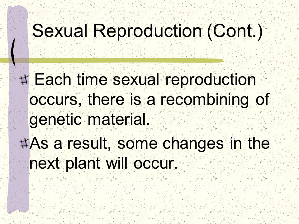 Sexual Reproduction (Cont.)