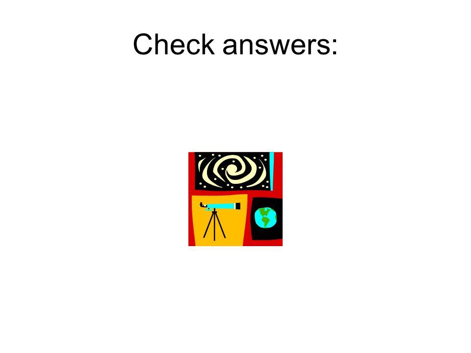 Check answers: