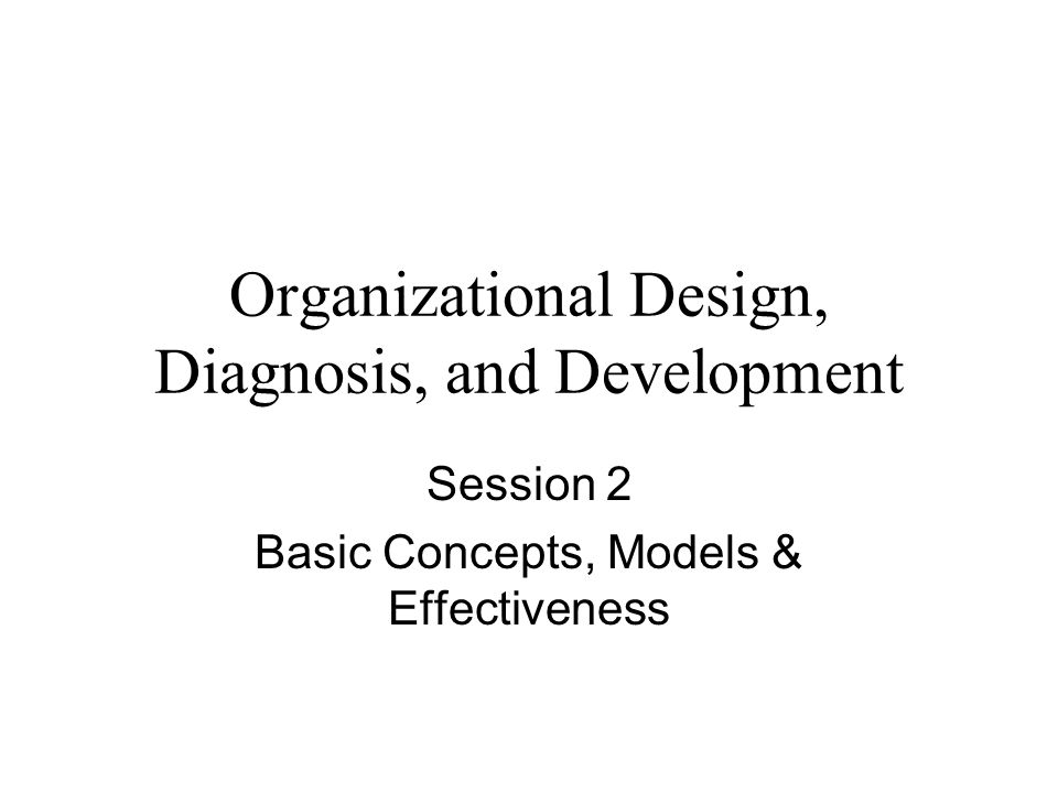 Organizational Design, Diagnosis, and Development