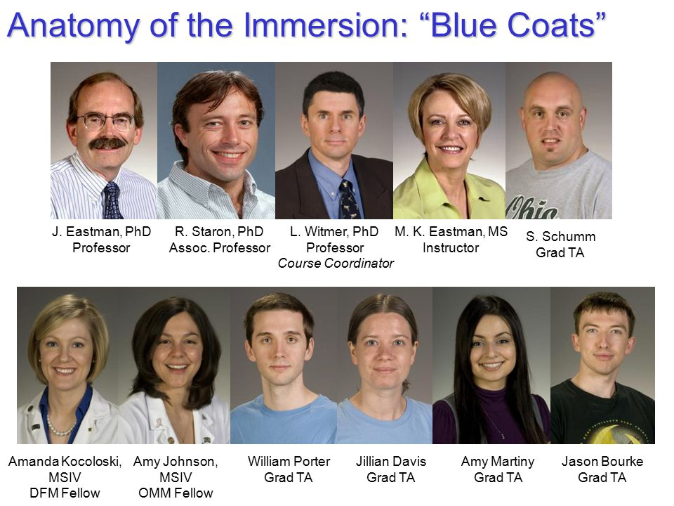 Anatomy of the Immersion: Blue Coats