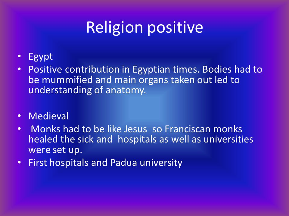 Religion positive Egypt
