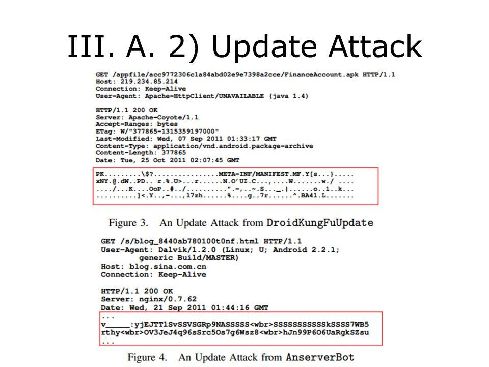 III. A. 2) Update Attack