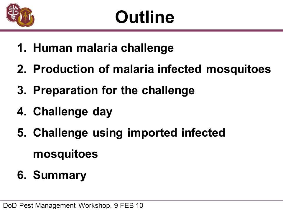 Outline Human malaria challenge
