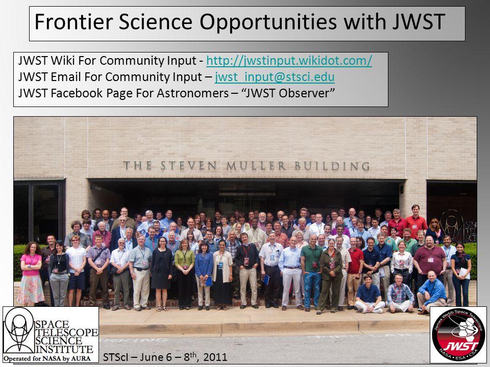 Frontier Science Opportunities with JWST