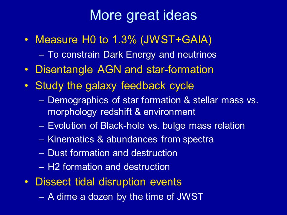 More great ideas Measure H0 to 1.3% (JWST+GAIA)