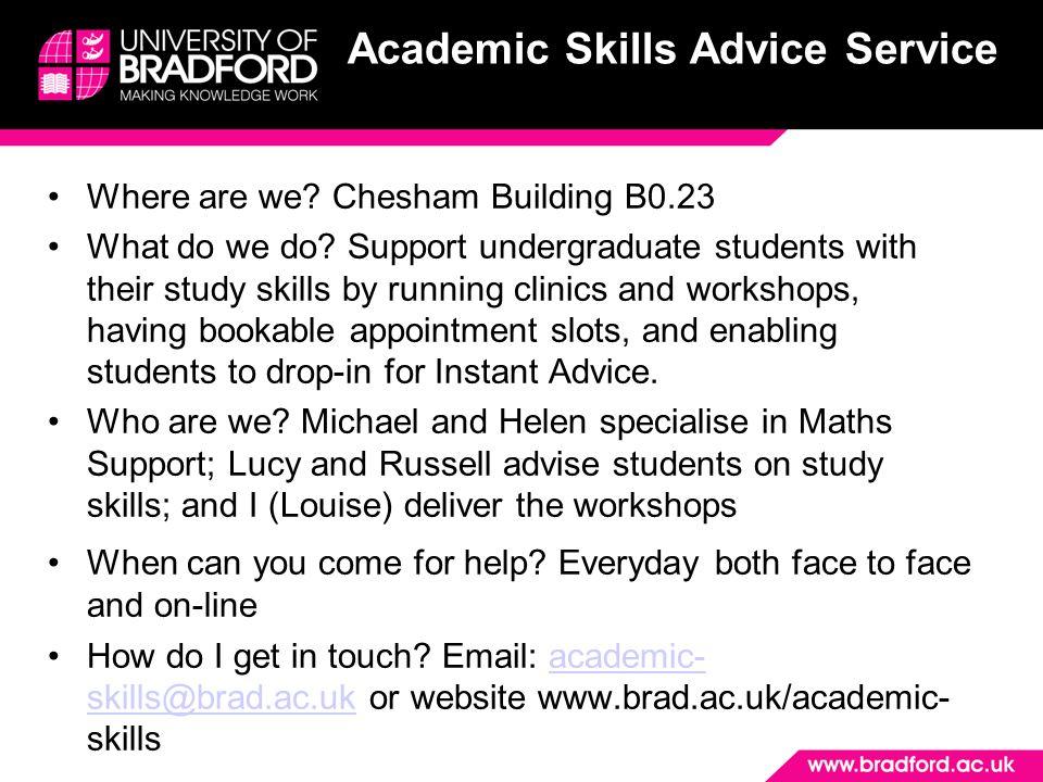 Academic Skills Advice Service