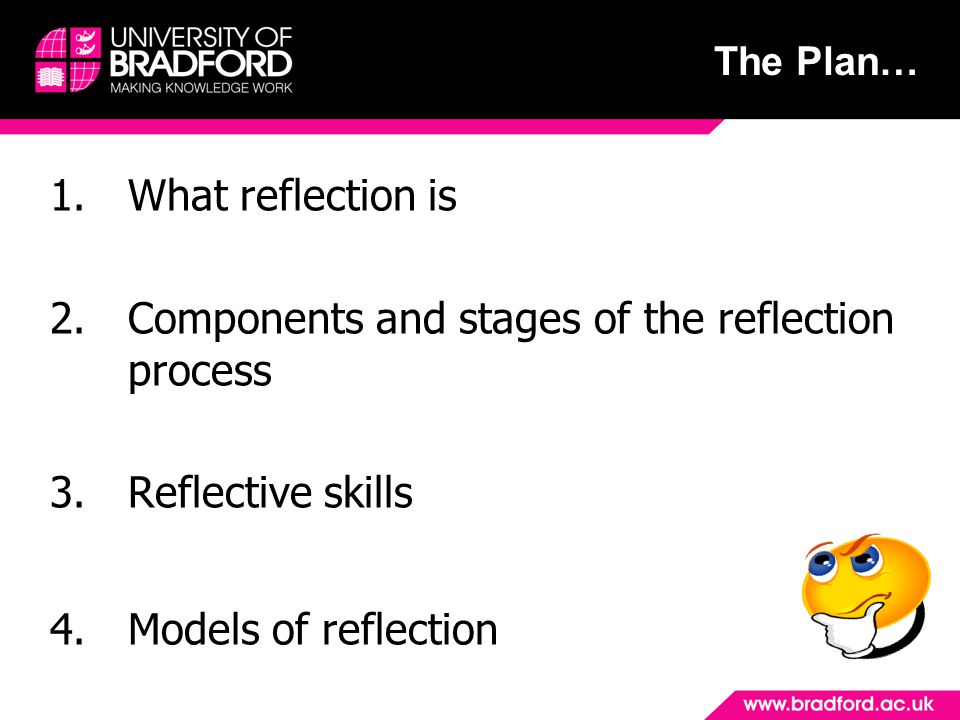 Components and stages of the reflection process
