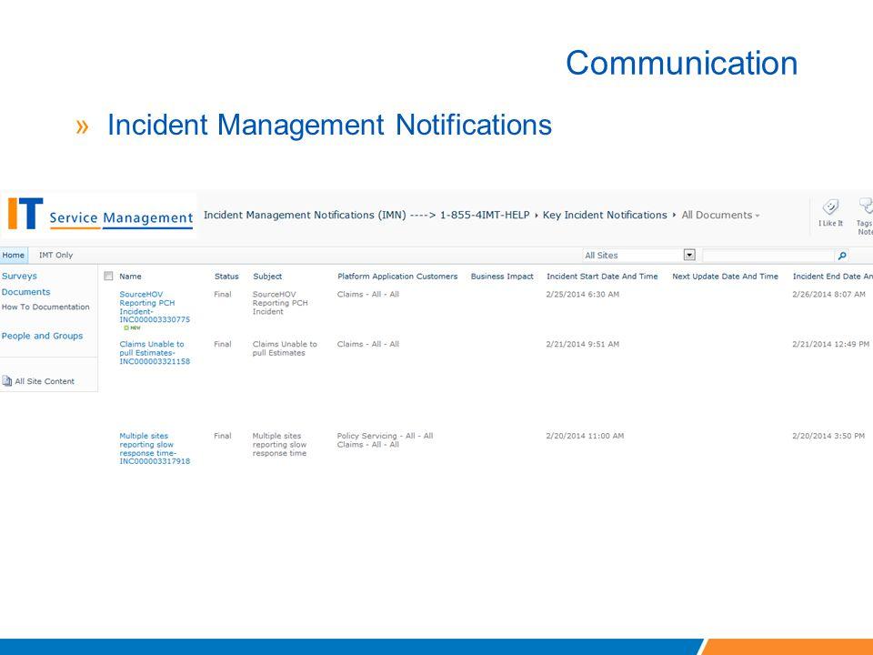 Communication Incident Management Notifications