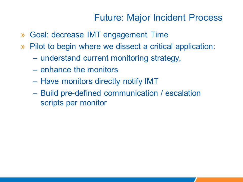 Future: Major Incident Process