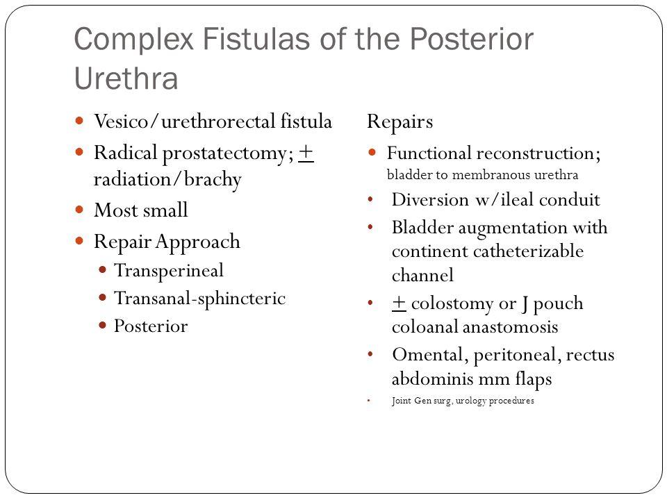 Complex Fistulas of the Posterior Urethra