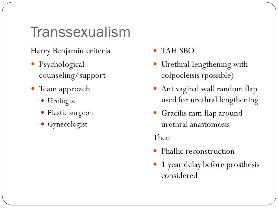 Transsexualism Harry Benjamin criteria
