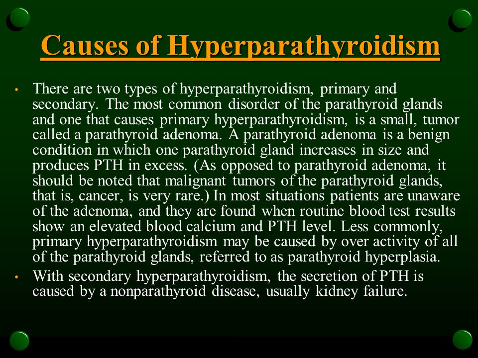 Causes of Hyperparathyroidism