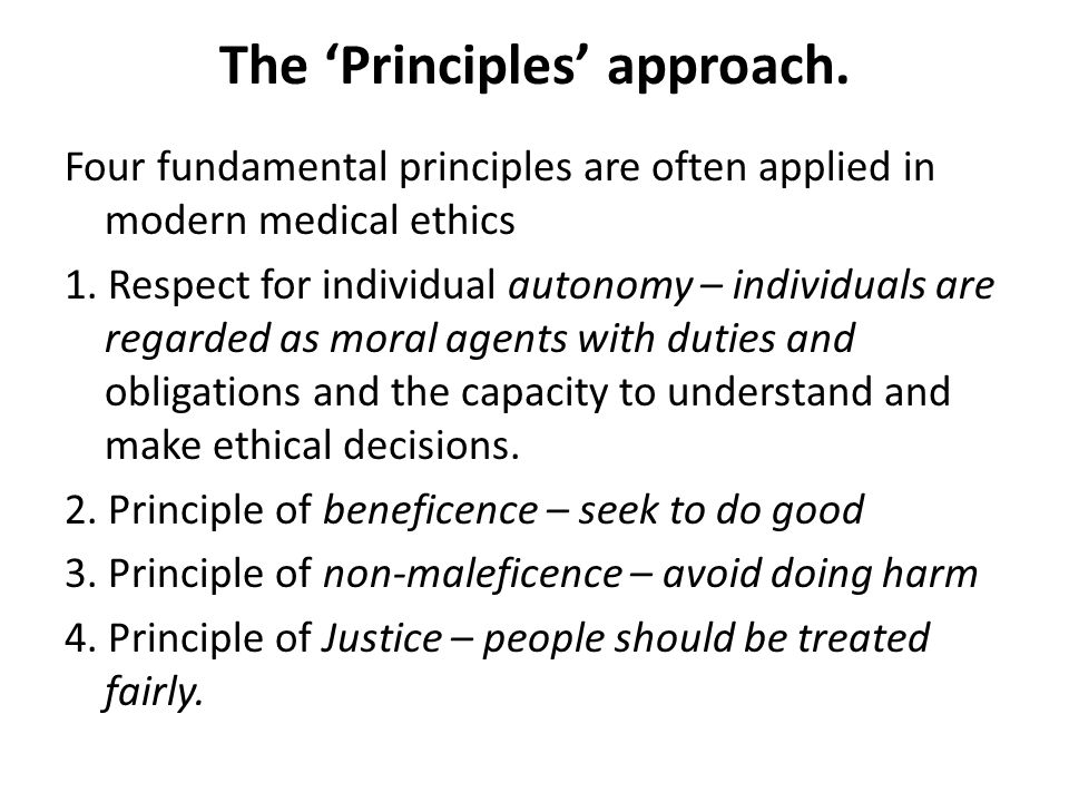 The 'Principles' approach.