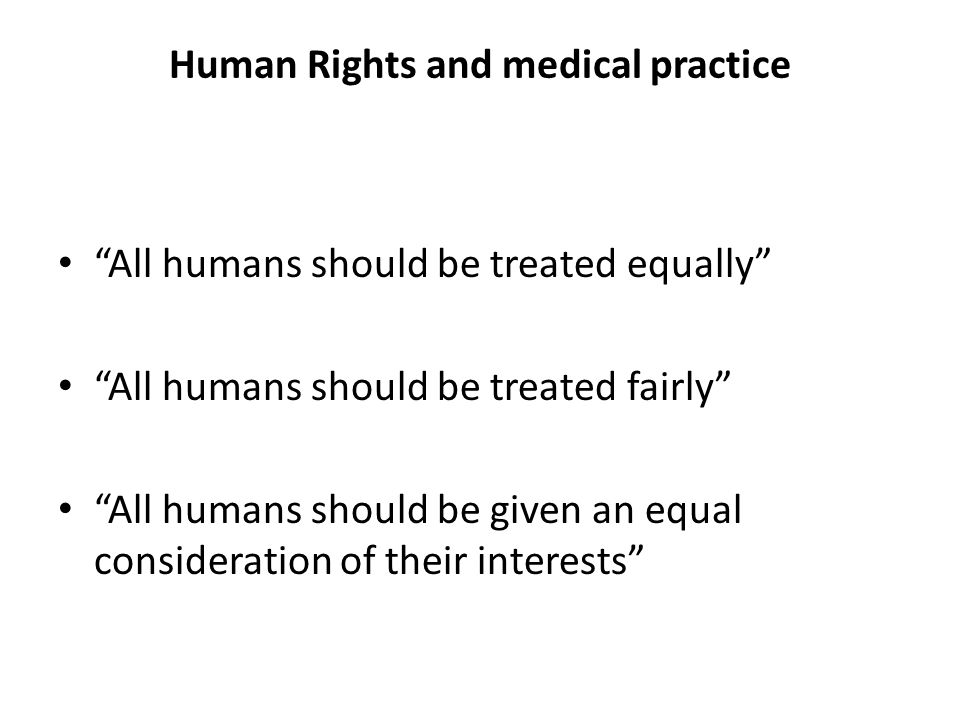 Human Rights and medical practice