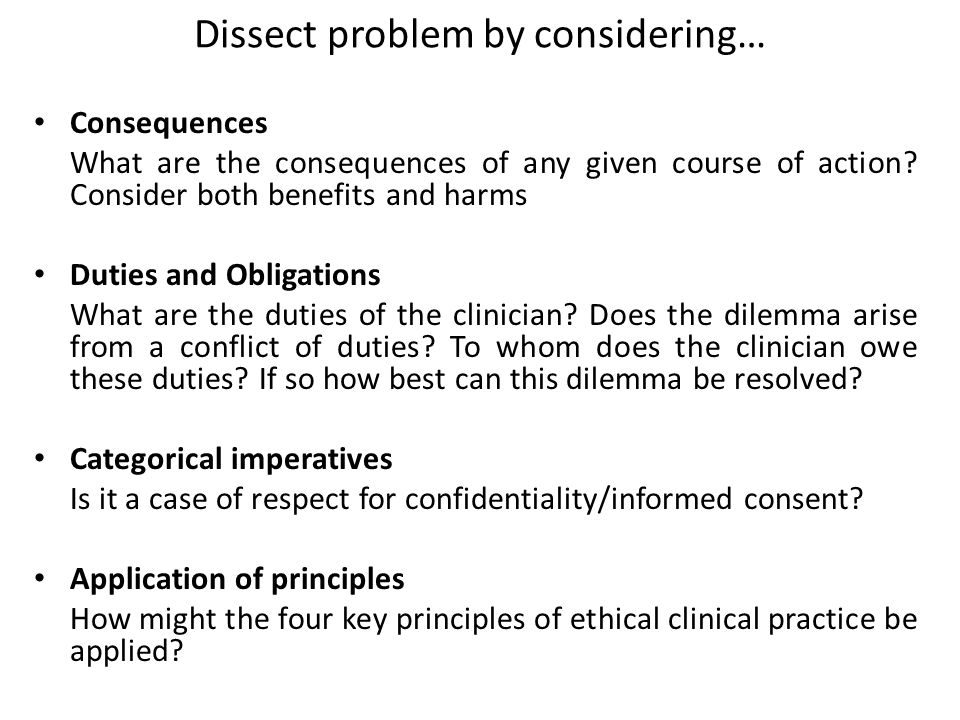 Dissect problem by considering…