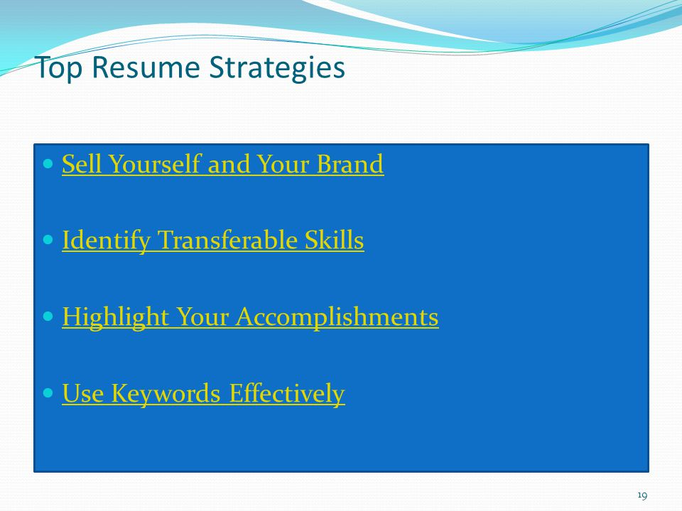 Top Resume Strategies Sell Yourself and Your Brand