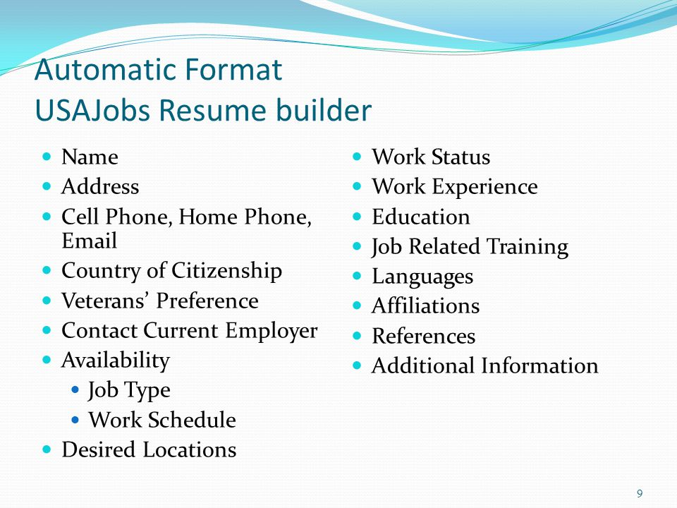federal resume writing workshop ppt video online download
