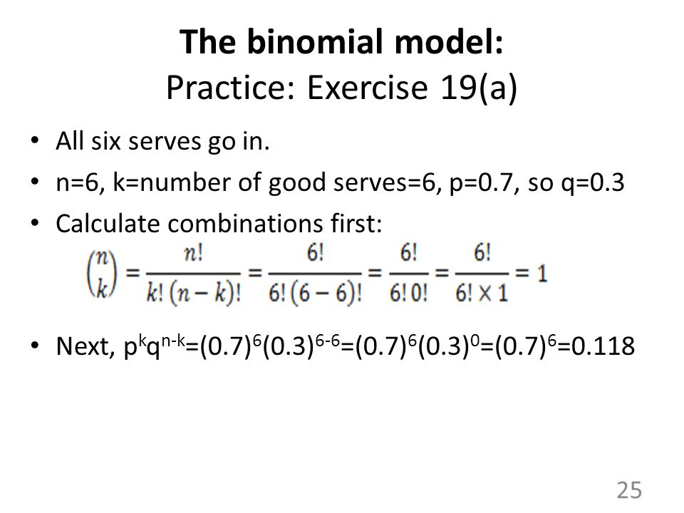 The binomial model: Practice: Exercise 19(a)
