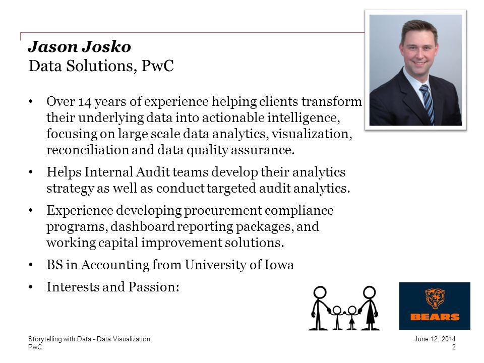 Jason Josko Data Solutions, PwC