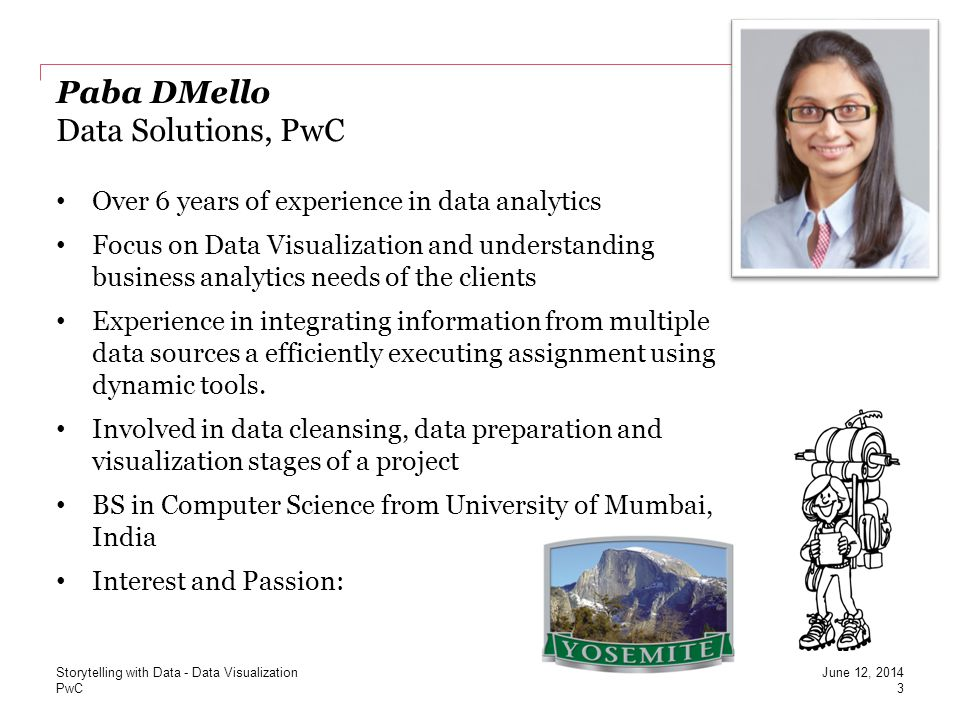 Paba DMello Data Solutions, PwC