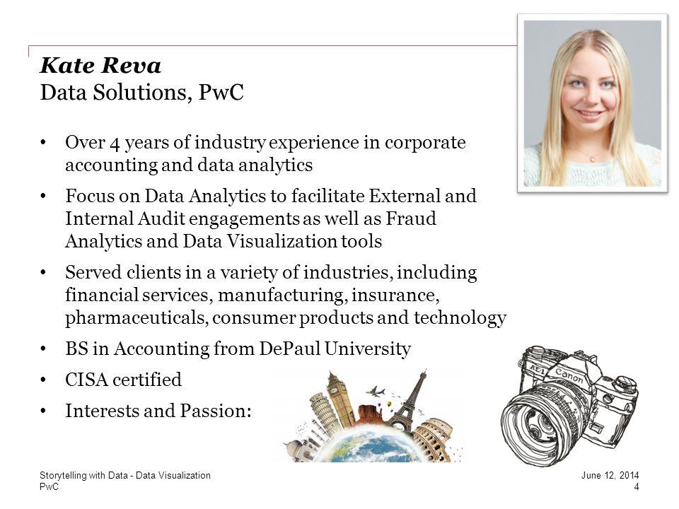 Kate Reva Data Solutions, PwC