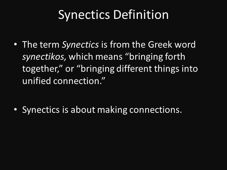 Synectics Definition