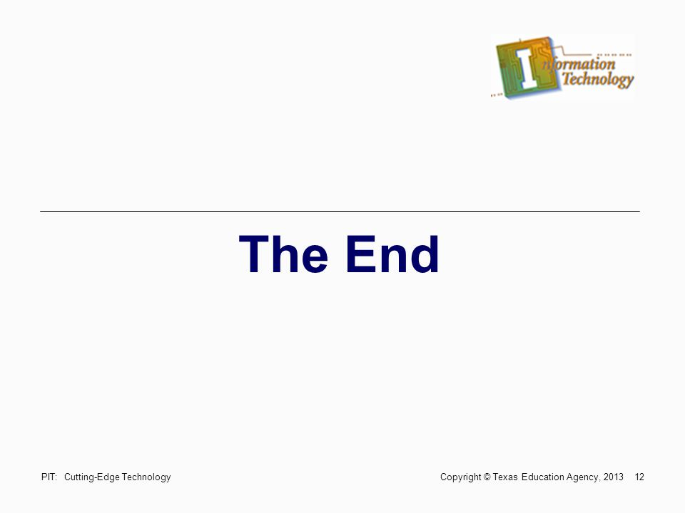 The End Trade & Industrial Education
