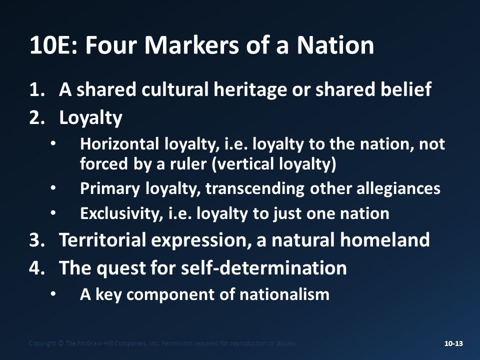 10E: Four Markers of a Nation