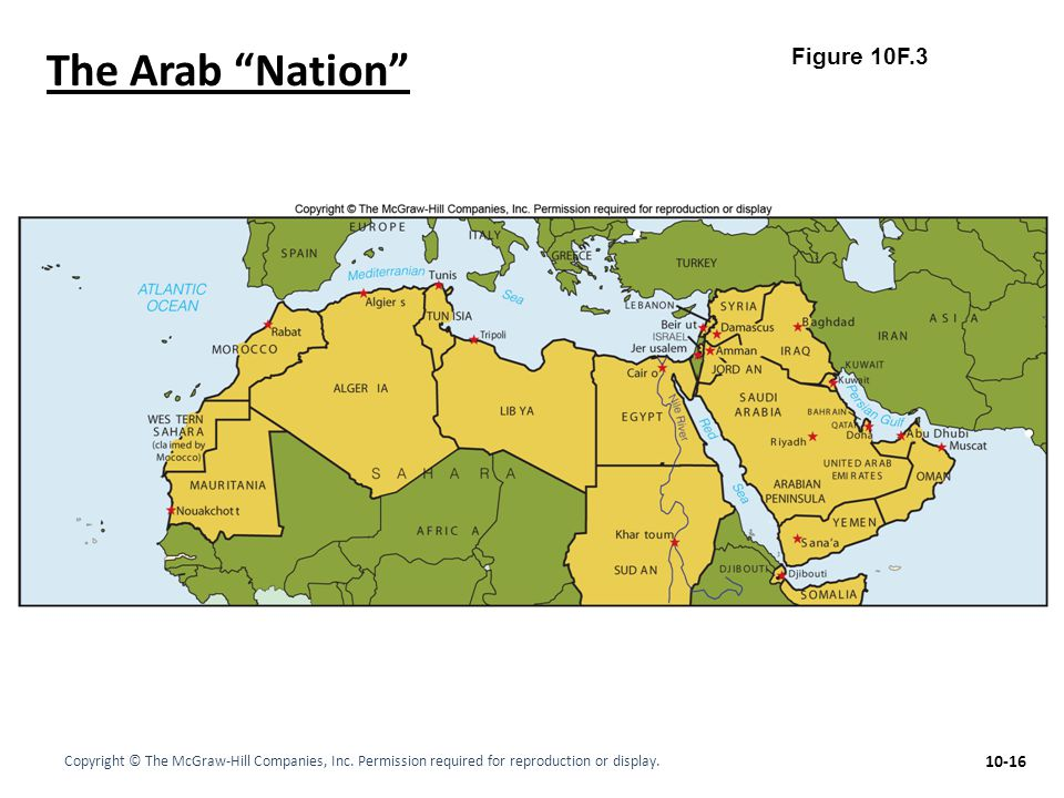 The Arab Nation Figure 10F.3
