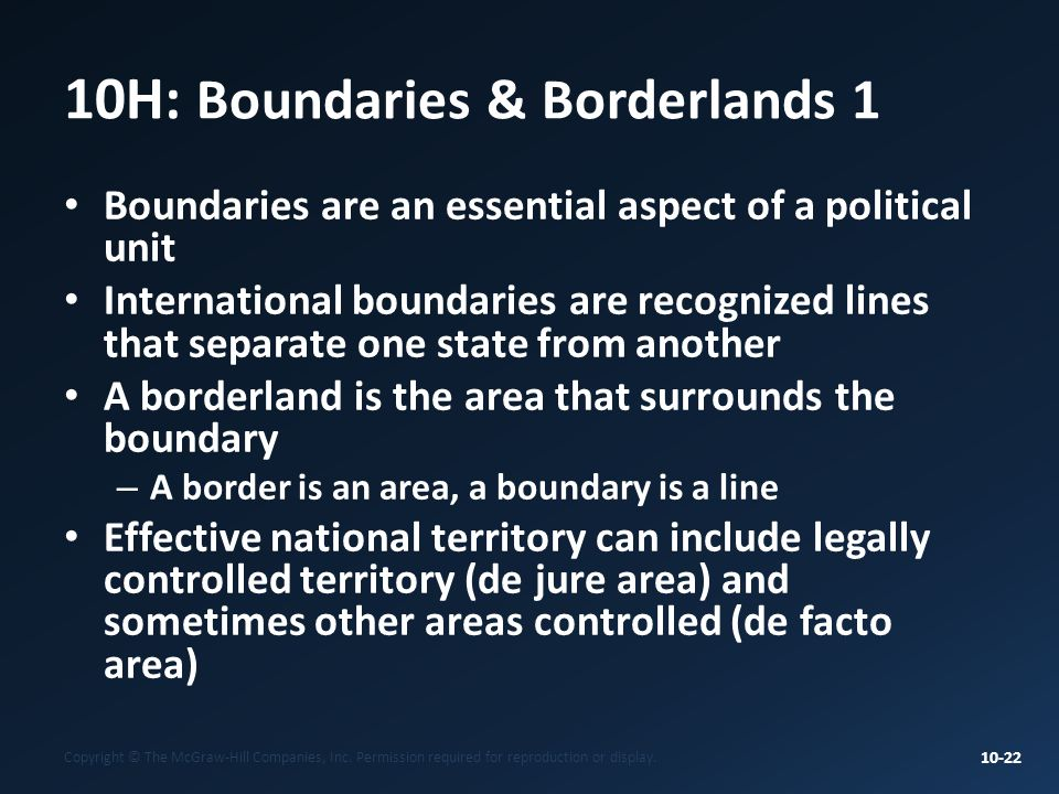 10H: Boundaries & Borderlands 1