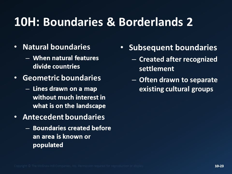 10H: Boundaries & Borderlands 2