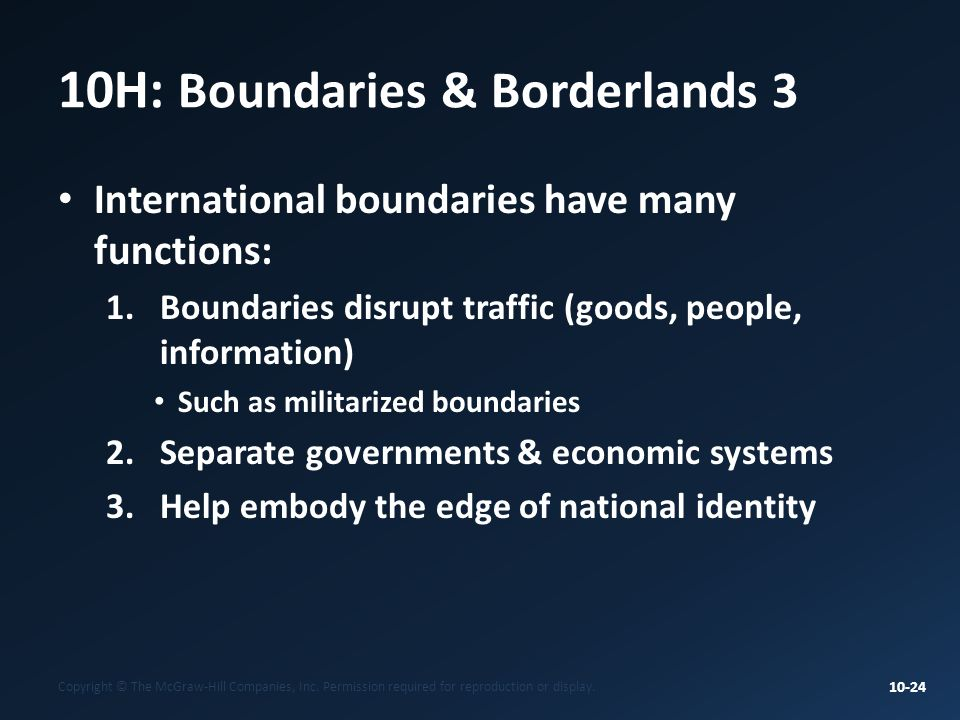 10H: Boundaries & Borderlands 3