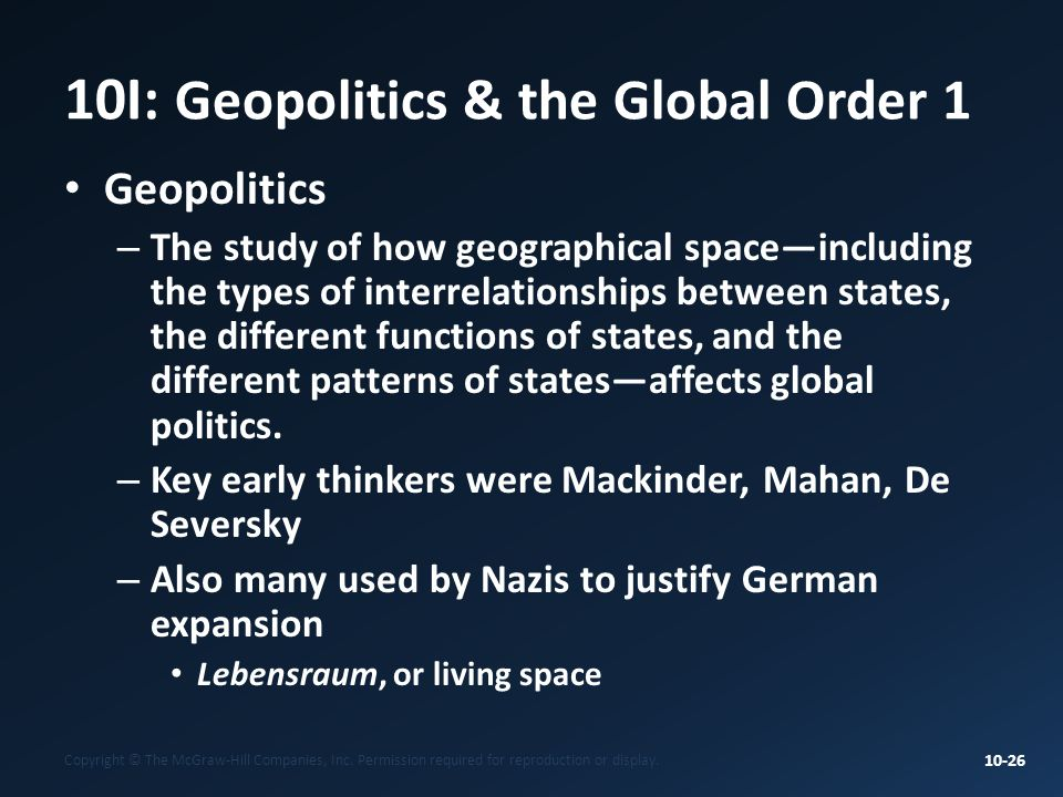 10I: Geopolitics & the Global Order 1