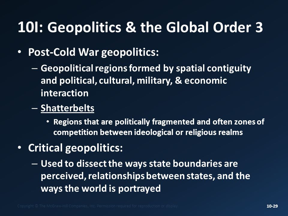 10I: Geopolitics & the Global Order 3