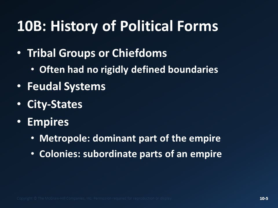 10B: History of Political Forms