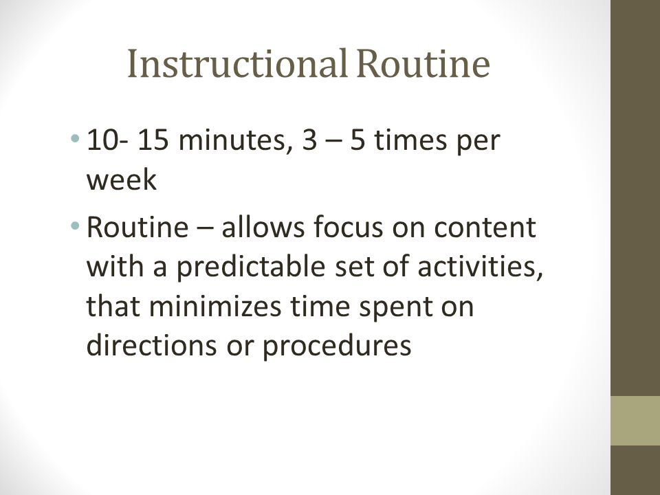 Instructional Routine
