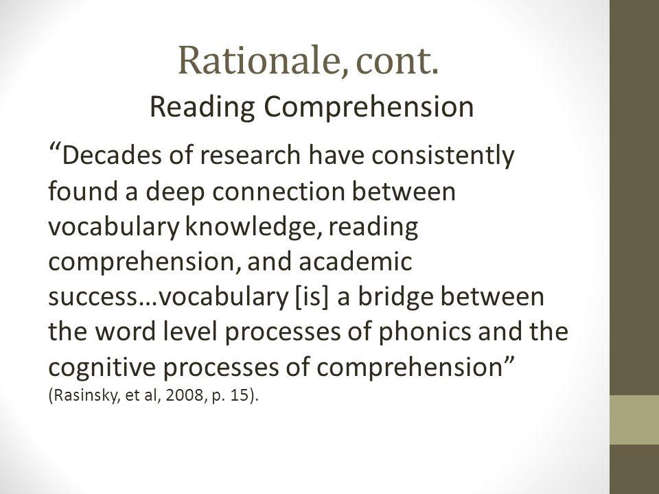 Rationale, cont.