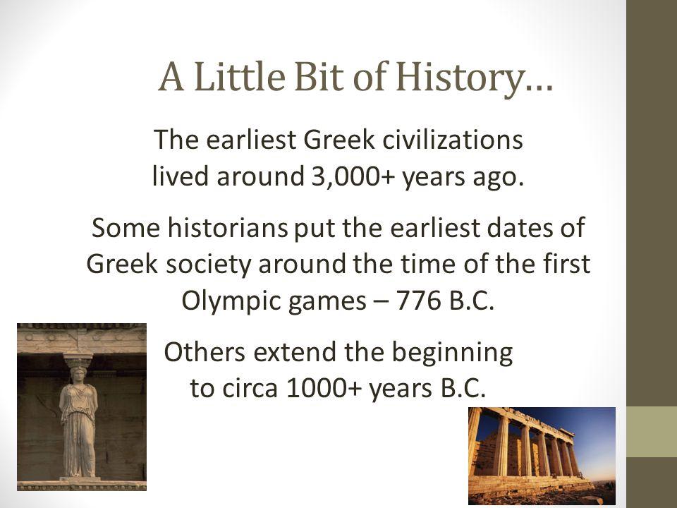 A Little Bit of History…