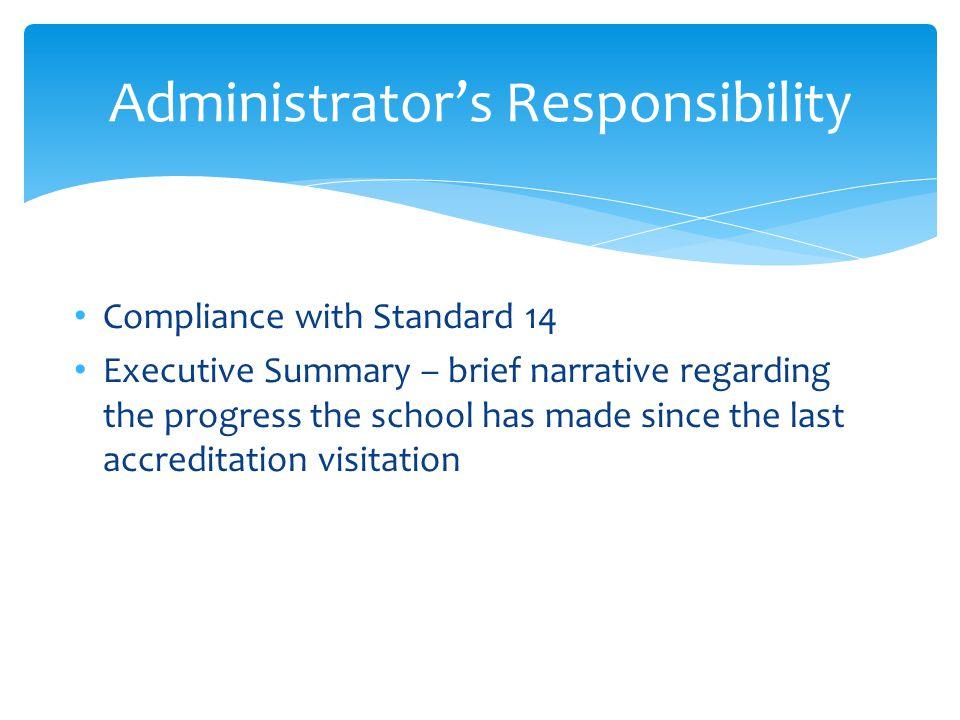 Administrator's Responsibility