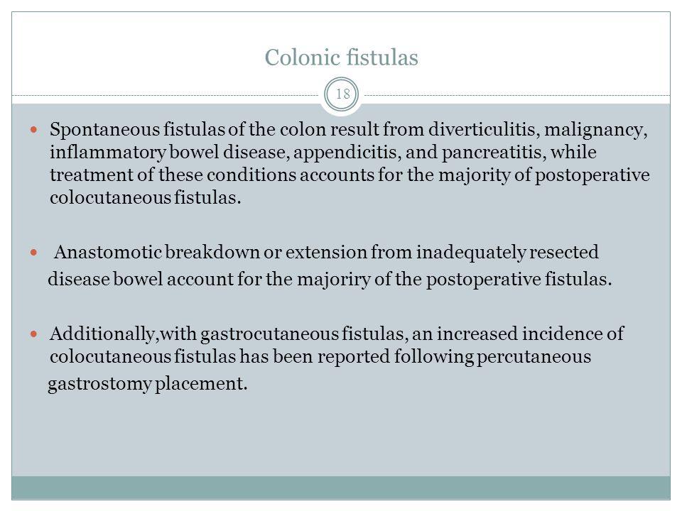 Colonic fistulas