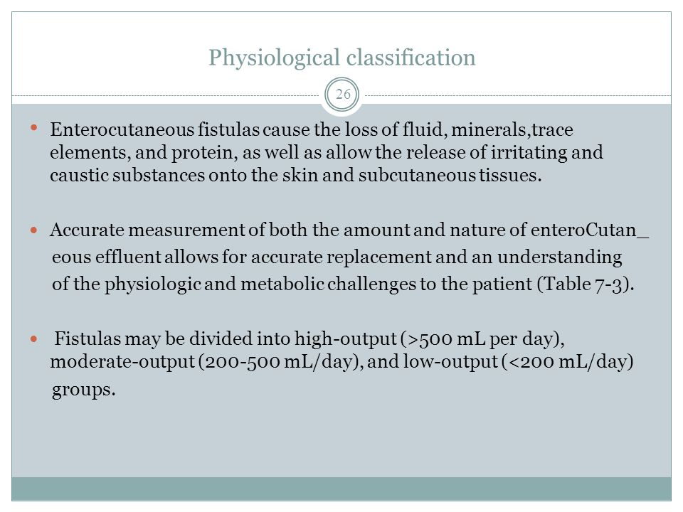 Physiological classification