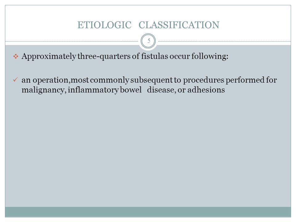 ETIOLOGIC CLASSIFICATION