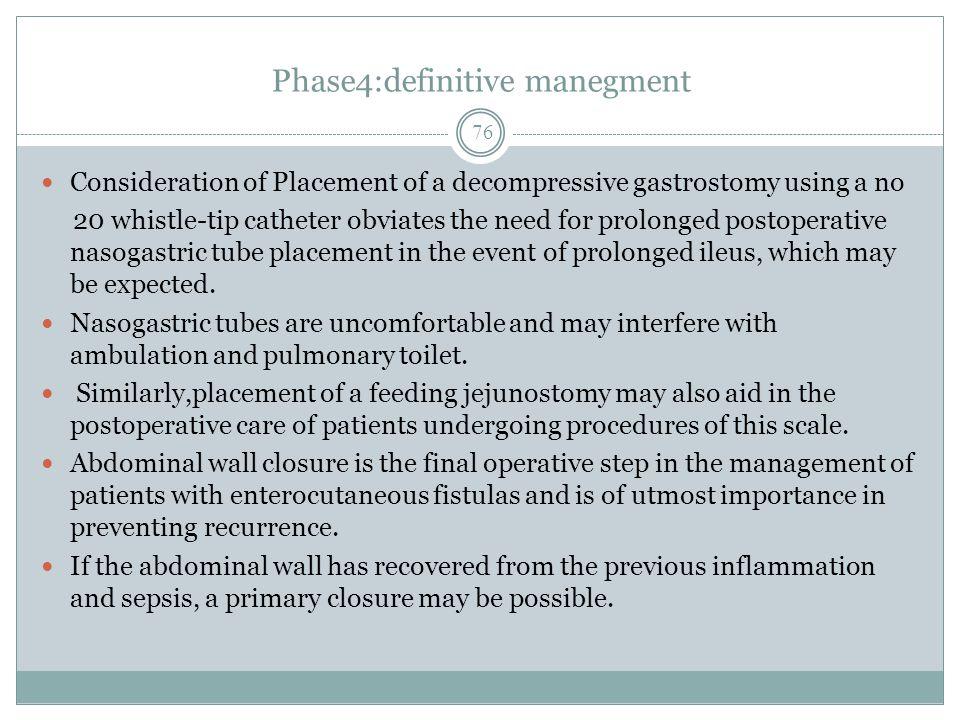 Phase4:definitive manegment