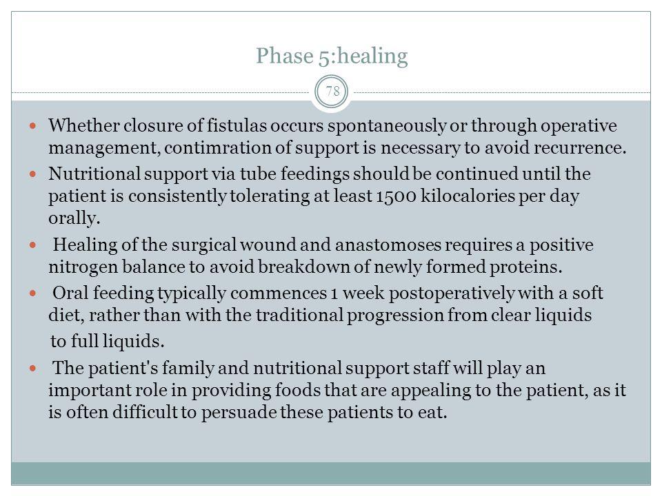 Phase 5:healing