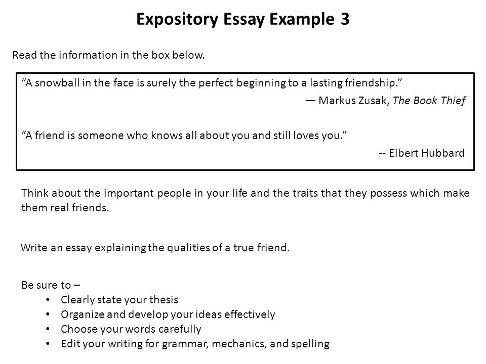 good beginnings expository essay How to begin and end your essay leaving them with something to think about can be good end with the beginning bring your essay full circle.