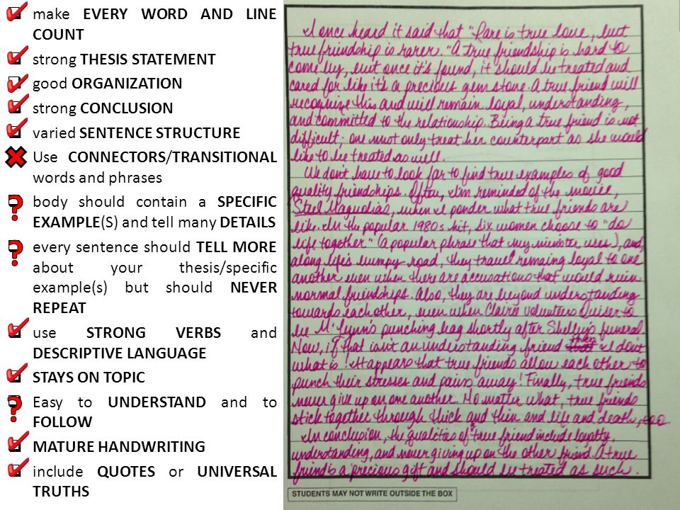 make EVERY WORD AND LINE COUNT strong THESIS STATEMENT