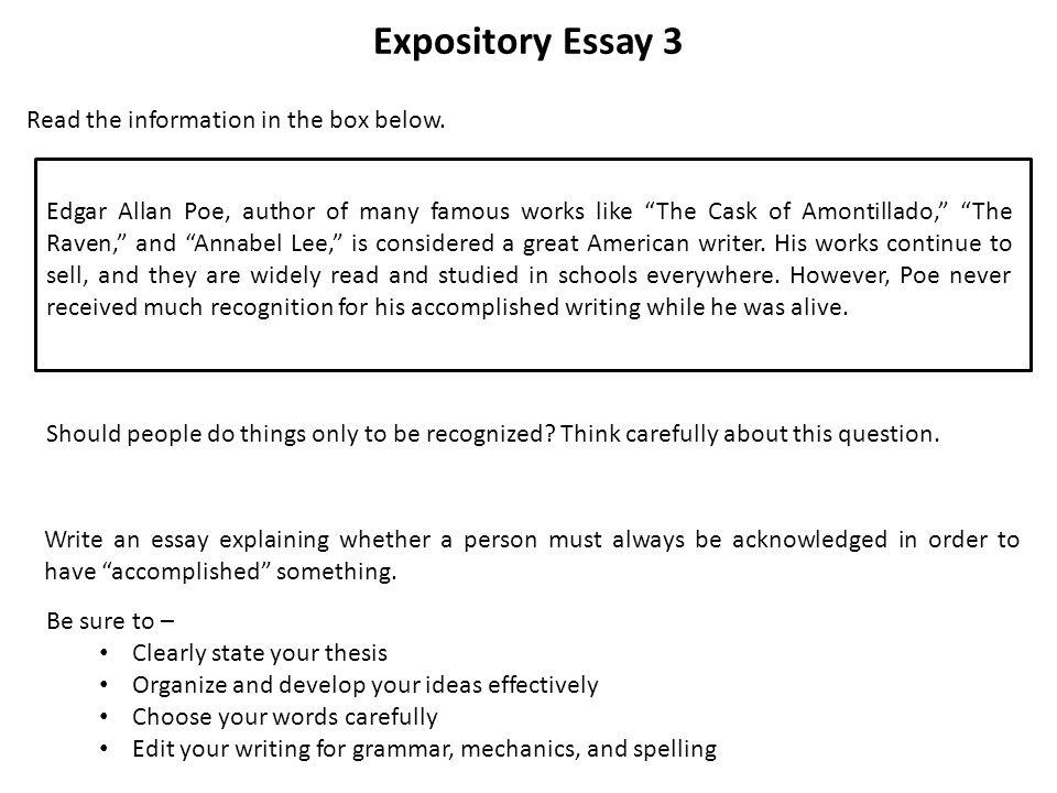 well written expository essay